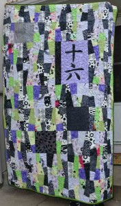 """16″ pieced and quilted in March 2011"