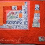 "Swirls, loops, flowers: custom quilting on ""Alice's Cabin"""